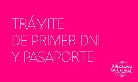 TRÁMITE DE PRIMER DNI Y PASAPORTE