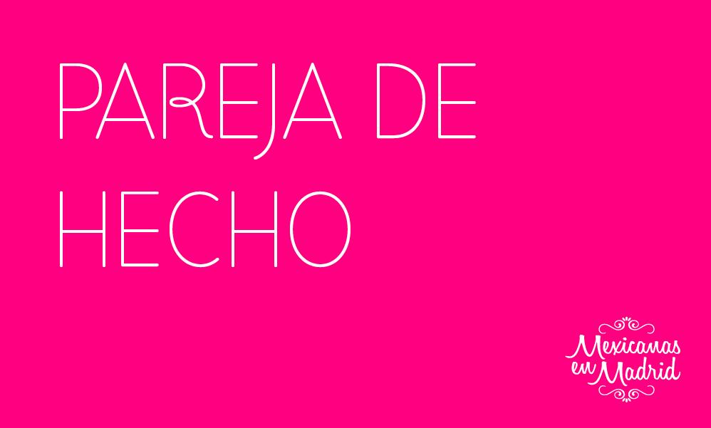 PAREJA DE HECHO
