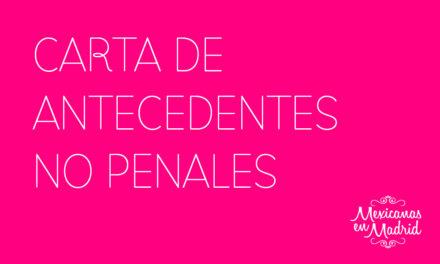 CARTA DE ANTECEDENTES NO PENALES FEDERALES