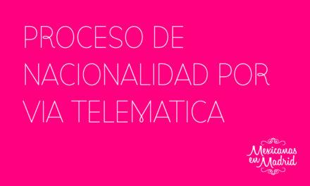 PROCESO DE NACIONALIDAD POR VÍA TELEMÁTICA