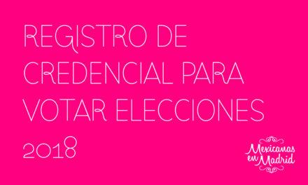 Registro de Credenciales para Votar.