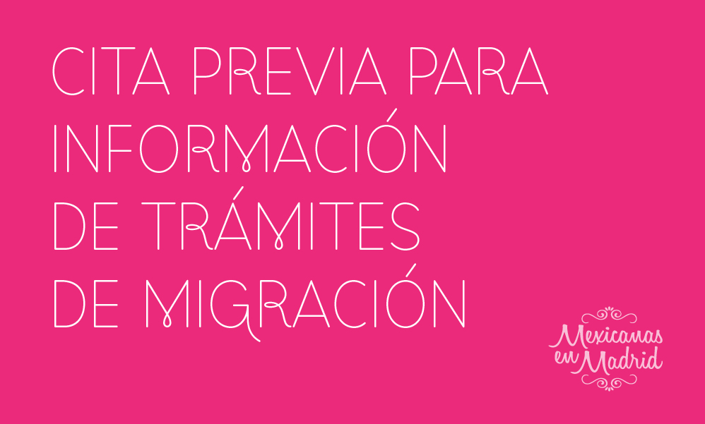 CITA PREVIA: TRÁMITES INFORMACIÓN DE EXTRANJERÍA.