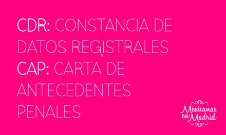 Constancia de Antecedentes Penales, Constancia de Datos Registrales.